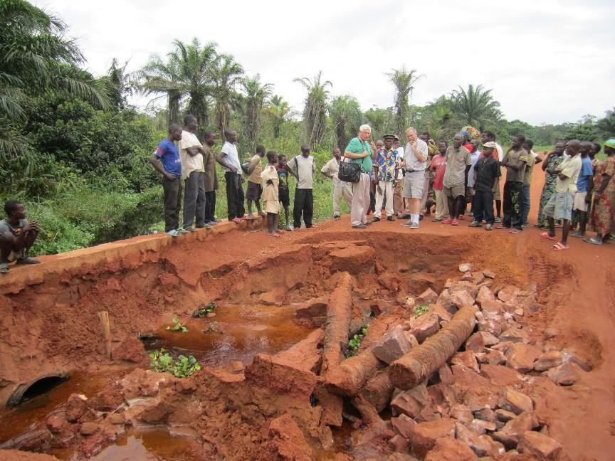 Mbulugele bridge collapsed