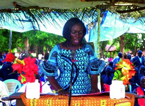 Madame Ngbako Mbilisi Anastasie, Minister of Health for the Nord-Ubangi Province.